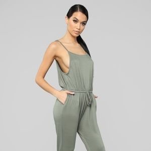 Jumpsuit in Olive NWT